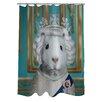 One Bella Casa Pets Rock HRH Shower Curtain