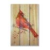 Gizaun Art Signature 1 Cardinal  Full Color Cedar Wall Art in Red