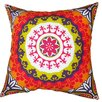 Divine Designs Suzani Cotton Throw Pillow