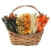 Urban Florals Sunflower Harvest Table Top Basket Wreath