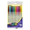 Bazic Pure Neon Color Stick Pen (Set of 10)