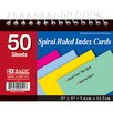Bazic Spiral Bound Ruled Colored Index Card (Set of 36)