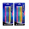 Bazic Claris 0.7 mm Mechanical Pencil with Grip (Set of 4)