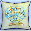 Betsy Drake Interiors Scallop Indoor/Outdoor Throw Pillow