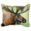 Betsy Drake Interiors Lodge Moose Indoor/Outdoor Lumbar Pillow
