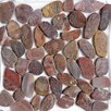 Islander Flooring Random Sized Natural Stone Pebble Tile in Red Sapphire
