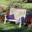 Rustic Natural Cedar Furniture Indoor / Outdoor Cedar Double Rocking Chair