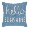 Peking Handicraft Hello Sunshine Hook Wool Throw Pillow