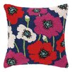 Peking Handicraft Poppy Hook Wool Throw Pillow