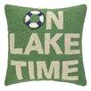 Peking Handicraft On Lake Time Hook Wool Throw Pillow