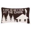 Peking Handicraft Life is Better Hook Wool Lumbar Pillow