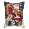 Peking Handicraft Christmas Snowy Night Hook Wool Throw Pillow