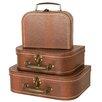 WaldImports 3 Piece Decorative Suitcase Set