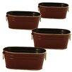 WaldImports 4 Piece Oval Pot Planter Set (Set of 4)