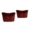 WaldImports 2 Piece Oval Pot Planter Set (Set of 2)