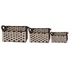 WaldImports 3 Piece Two-Toned Wool Felt Weave Basket Set