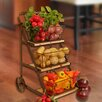 WaldImports Farmhouse Table Top Produce Cart