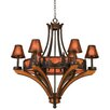 Kalco Aspen 6 Light Chandelier with Mica Shade
