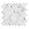 "Legion Furniture 1"" x 2"" Stone Mosaic Tile in White"