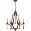 Crystorama Parson 6 Light Candle Chandelier