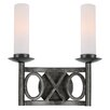 Crystorama Odette 2 Light Wall Sconce