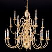 Crystorama Essex House 48 Light Candle Chandelier