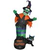 Gemmy Industries Animated Wobbling Witch Scene Halloween Decoration