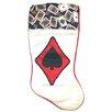Santa's Best Satin Deck of Cards Spades Casino Gambling Christmas Stocking