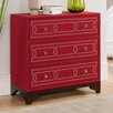 Coast to Coast Imports LLC 3 Drawer Chest in Keeneland Red