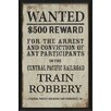 The Artwork Factory Wanted for Train Robbery Framed Textual Art