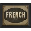 The Artwork Factory French Roast Framed Textual Art