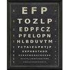 The Artwork Factory Eye Chart EFP Framed Textual Art