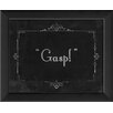 The Artwork Factory Silent Movie Gasp Framed Textual Art