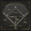 The Artwork Factory Baseball Field Diagram Framed Graphic Art