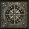 The Artwork Factory Compass Rose Framed Graphic Art