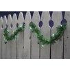 Sienna Lighting Pre-Lit Shamrock St. Patrick's Day Tinsel Garland Decoration