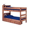 Chelsea Home Twin Over Twin Standard Bunk Bed and Bookcase