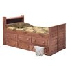 Chelsea Home Twin Captain Bed with 6 Drawers and Bookcase