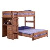 Chelsea Home Twin Over Full L-Shaped Bunk Bed with Desk End