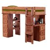 Chelsea Home Twin Loft Bed with Desk and Chest End