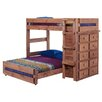 Chelsea Home Twin Over Full L-Shaped Bunk Bed with 10 Drawer Chest