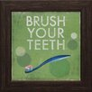 Artistic Reflections Brush Your Teeth Framed Vintage Advertisement