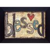 Artistic Reflections Blessed with heart Frame Textual Art