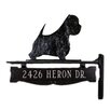 Montague Metal Products Inc. One Line Post Sign with West Highland White Terrier