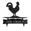 Montague Metal Products Inc. One Line Lawn Sign with Rooster