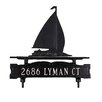Montague Metal Products Inc. One Line Lawn Sign with Sailboat