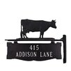 Montague Metal Products Inc. Two Line Post Sign with Cow