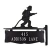 Montague Metal Products Inc. Two Line Post Sign with Fireman