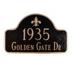 Montague Metal Products Inc. Fleur de Lis Two Line Arch Standard Address Plaque