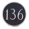 Montague Metal Products Inc. Large Circle Address Plaque